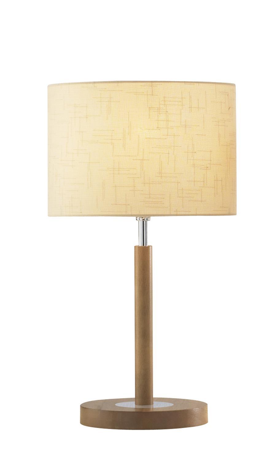 ave4043 avenue table lamp in wood including shade lighting bug swindon. Black Bedroom Furniture Sets. Home Design Ideas