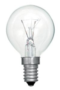 01691 Golf ball E14 incandescent tough lamp 25w clear