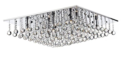ABA4750 ABACUS, A MODERN 80CM SQUARE FLUSH FITTING, IN POLISHED CHROME.