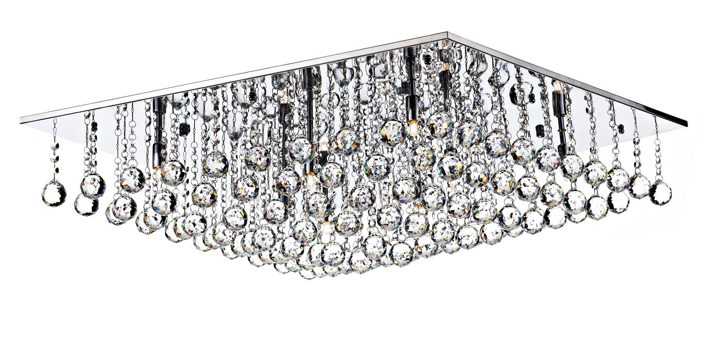 Dar ABA4750 ABACUS, A MODERN 80CM SQUARE FLUSH FITTING, IN POLISHED CHROME.