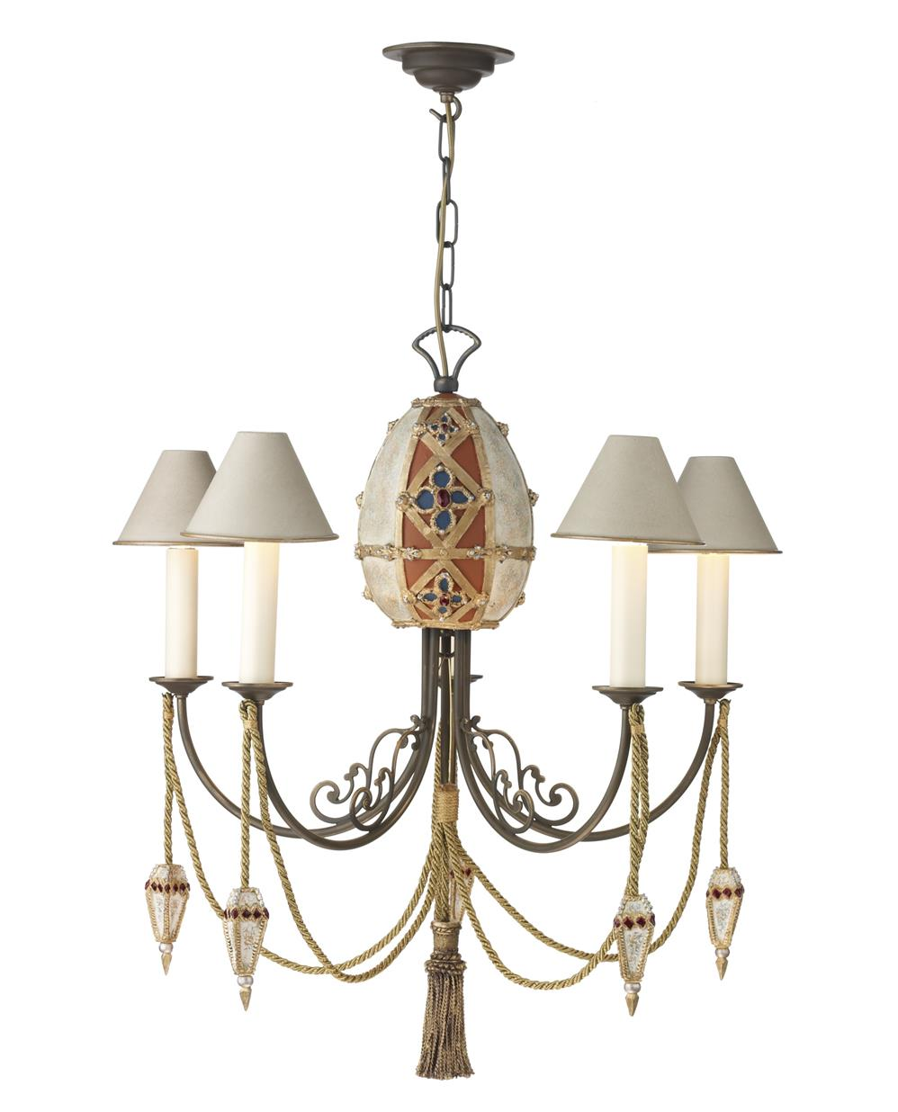 Dar AF05 Anastasia 5 light Chandelier. Fitting only