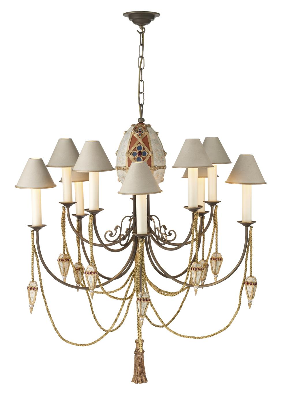 Dar AF10 Anastasia 10 light Chandelier. Fitting only