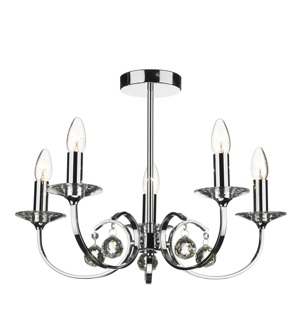 all0550 allegra 5 light pendant in polished chrome