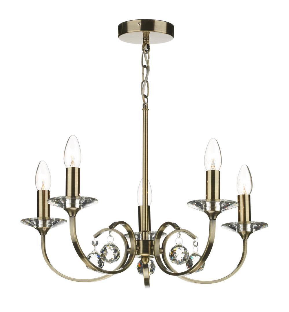 ALL0575 Allegra 5 Light Pendant in Antique Brass ...