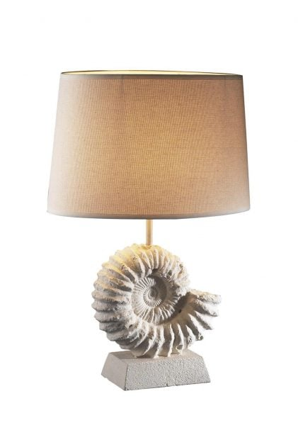 AMM4334 Ammonite Table Lamp complete with Shade