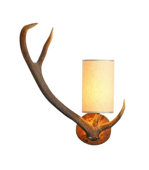 ANT0729L Antler Left Handed 1 Light Wall Light