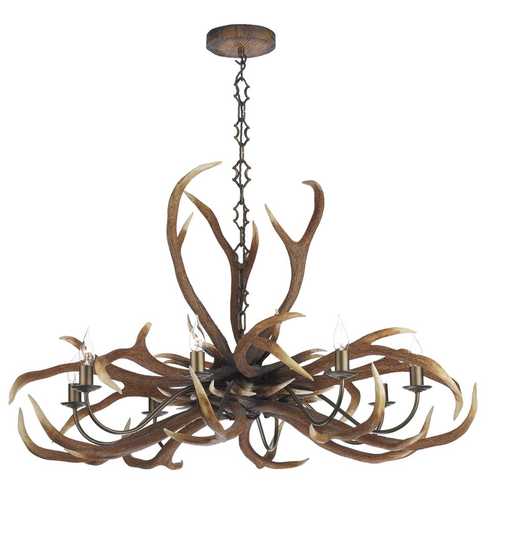 David Hunt Lighting ANT0829E Antler Emperpr 8 Light Pendant Chandelier