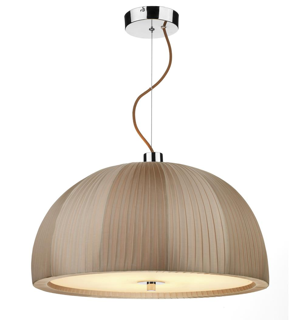 Dar ARC0329 Arc 3 light dome pendant Taupe