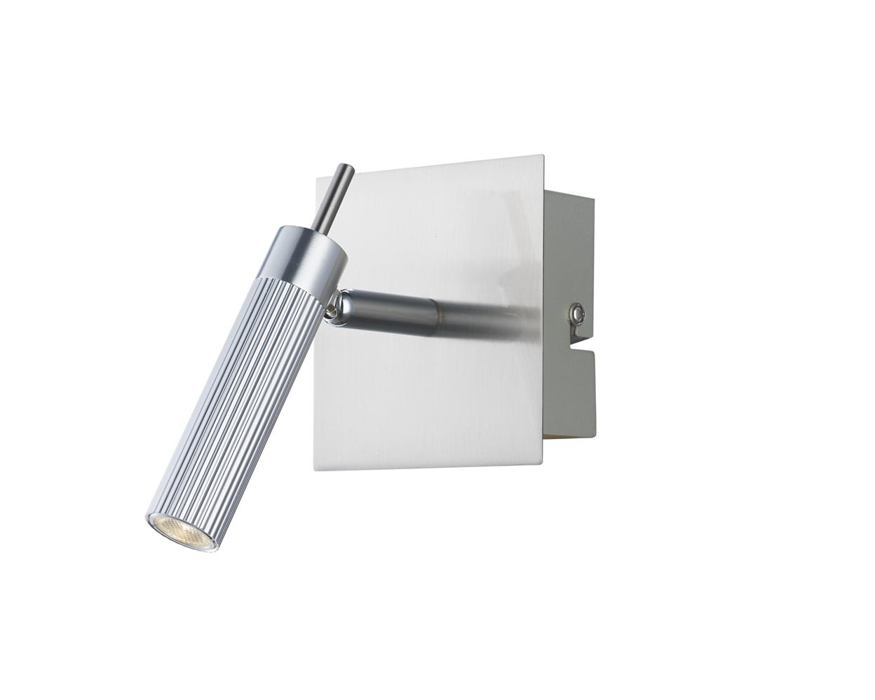 Dar ARN7168 Arno LED single wall spotlight in satin chrome