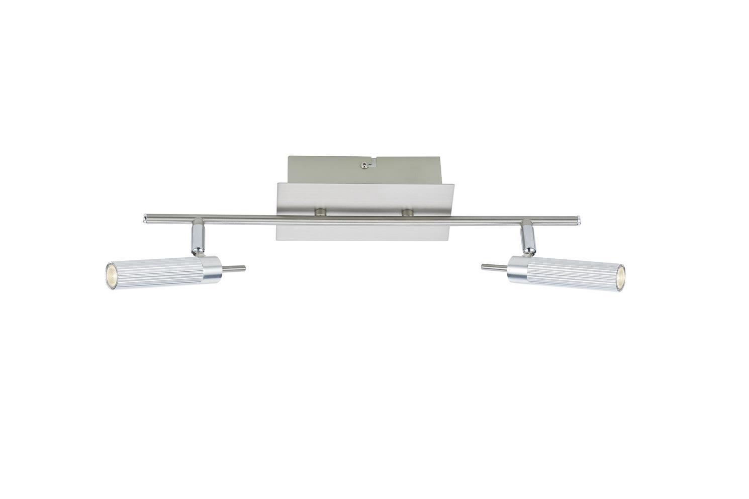 Dar ARN7768 Arno LED 2 light bar wall spotlight in satin chrome