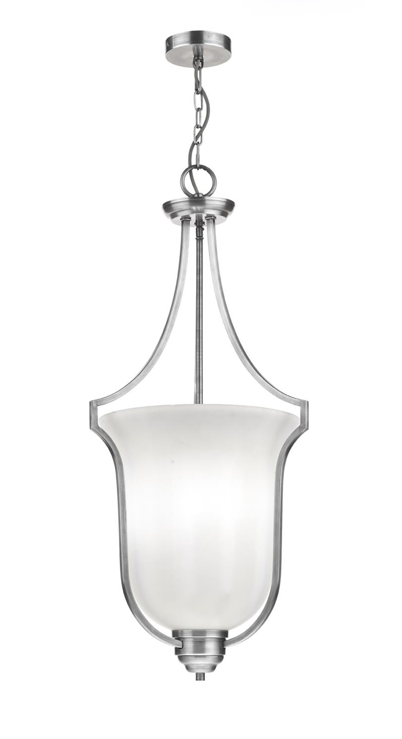 Dar ATR0350 Atrium 3 Light Pendant in Polished Chrome
