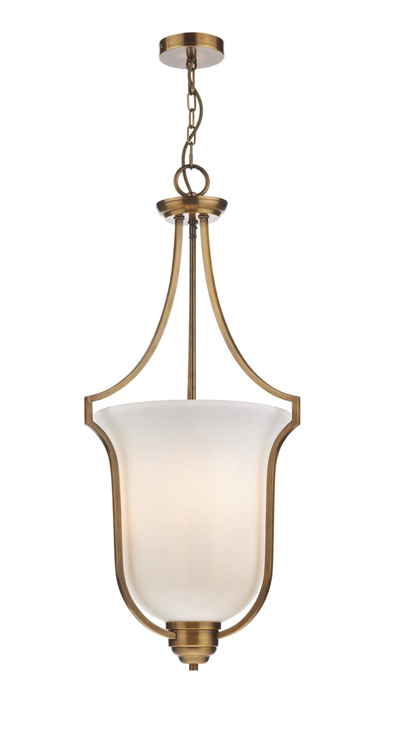 Dar ATR0363 Atrium 3 Light Pendant in Bronze