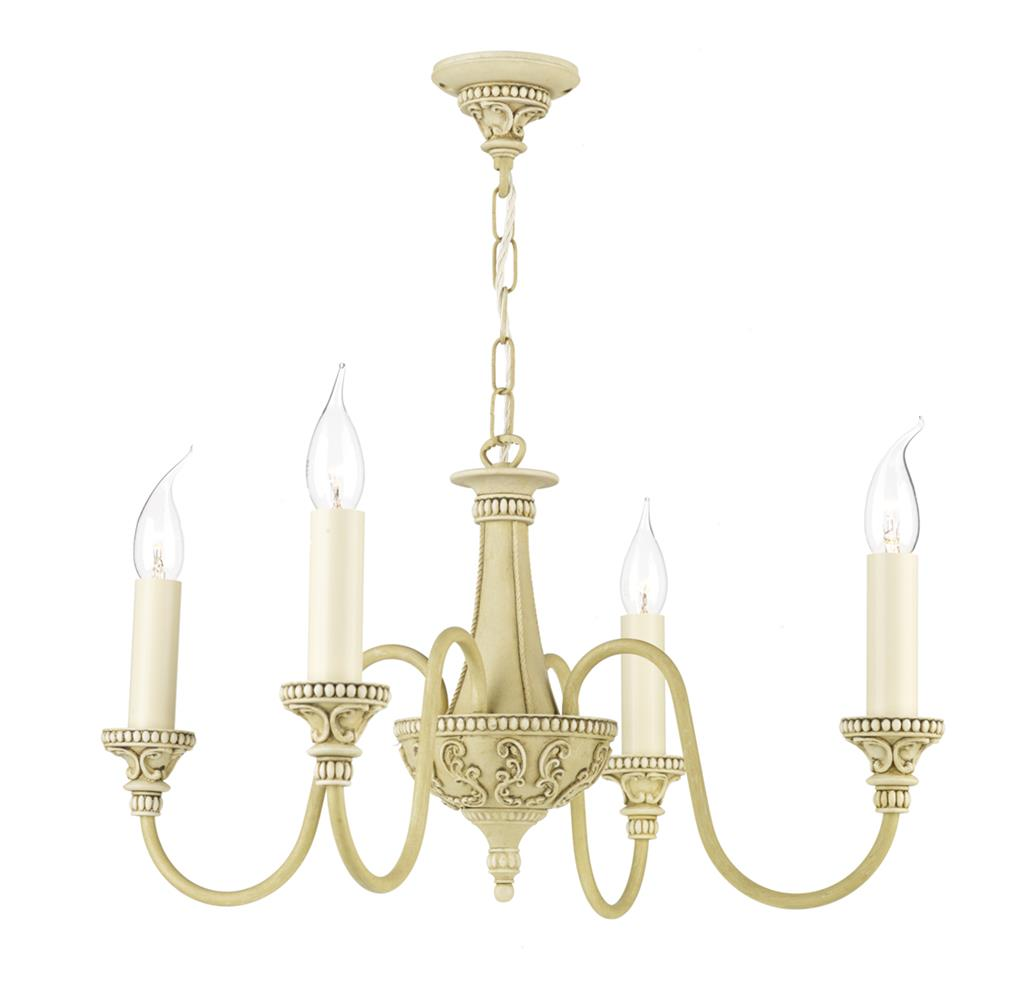 David Hunt Lighting BAI0445 Bailey 4 Light Pendant in Antique Cream