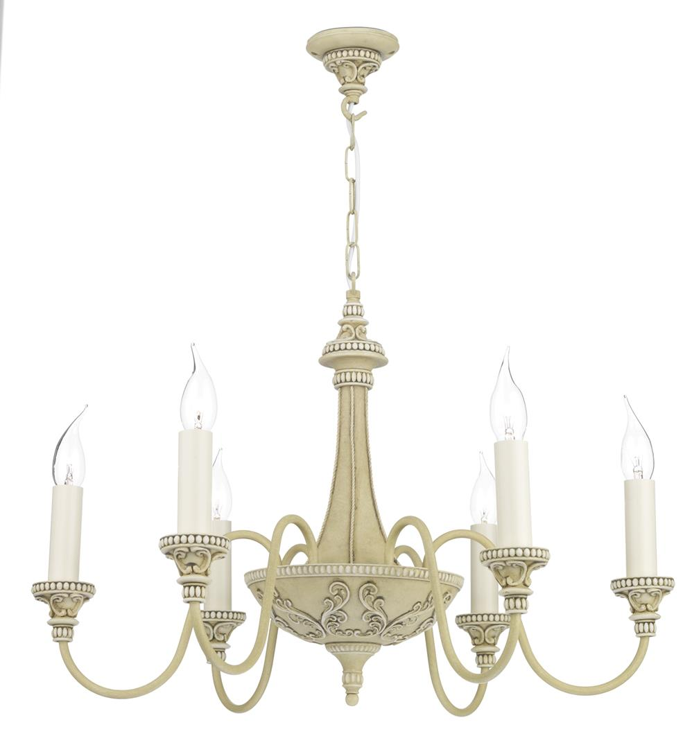 David Hunt Lighting BAI0645 Bailey 6 Light Pendant in Antique Cream