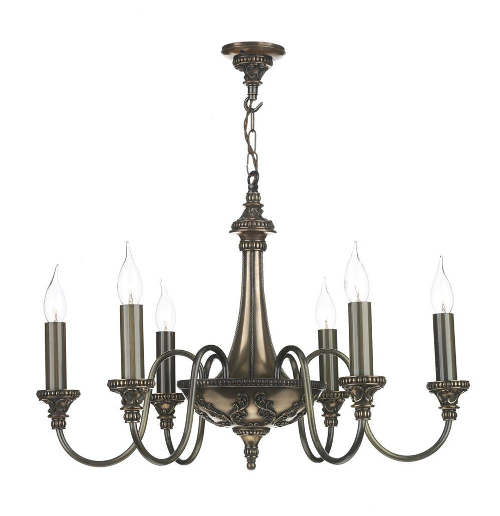 David Hunt Lighting BAI0663 Bailey 6 Light Pendant in Rich Bronze