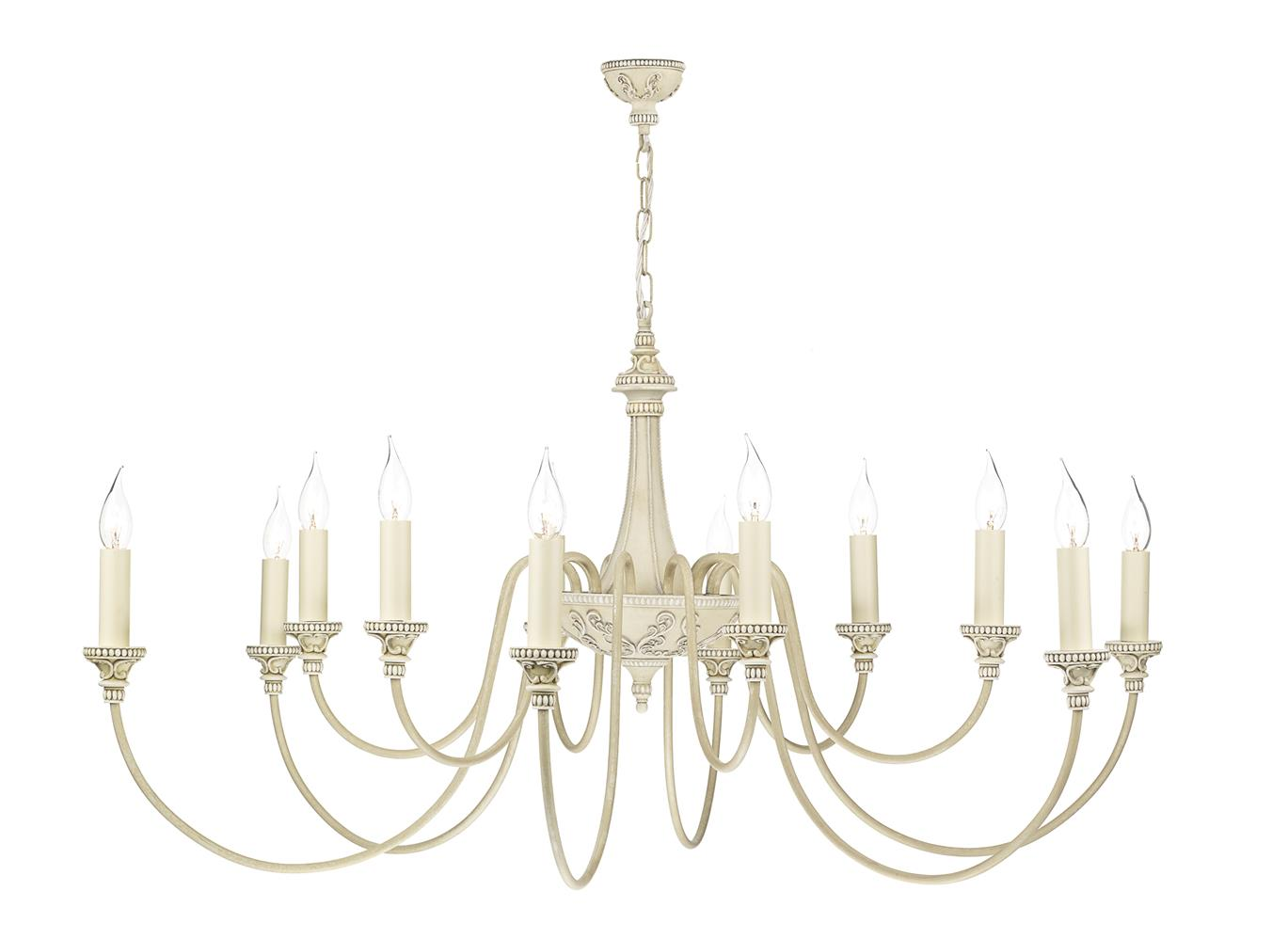 David Hunt Lighting BAI1245 Bailey 12 Light Pendant in Antique Cream