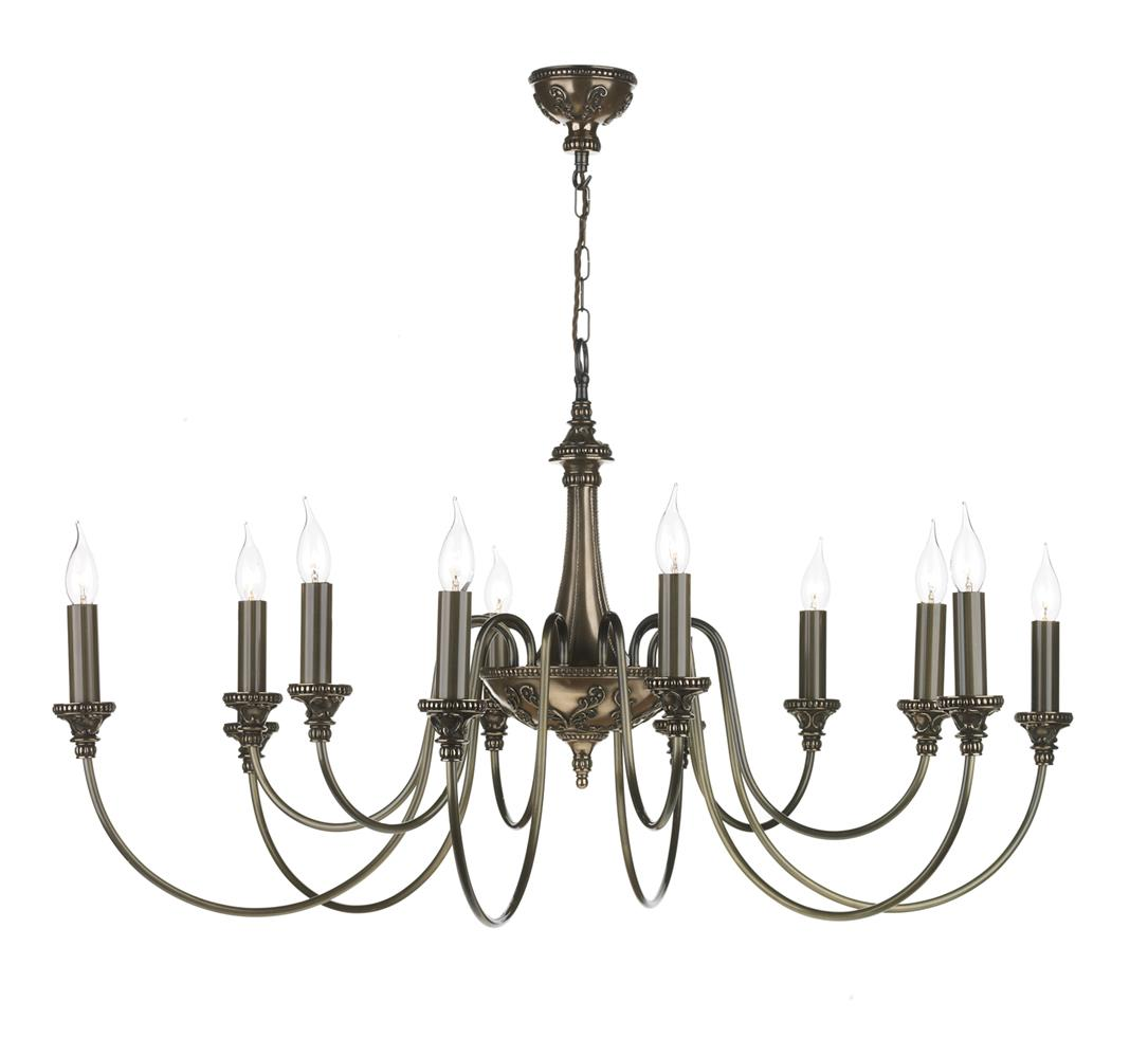 David Hunt Lighting BAI1263 Bailey 12 Light Pendant in Rich Bronze