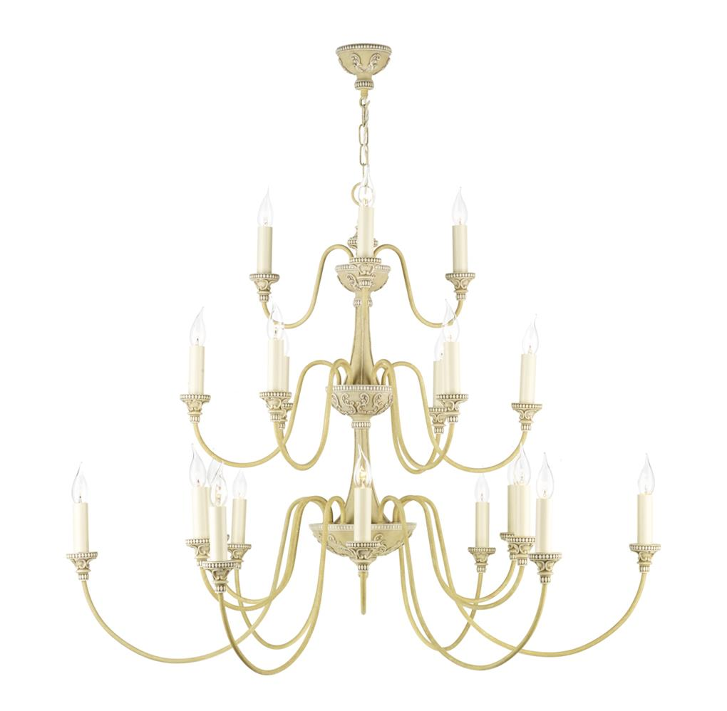 David Hunt Lighting BAI2145 Bailey 21 Light Pendant in Antique Cream