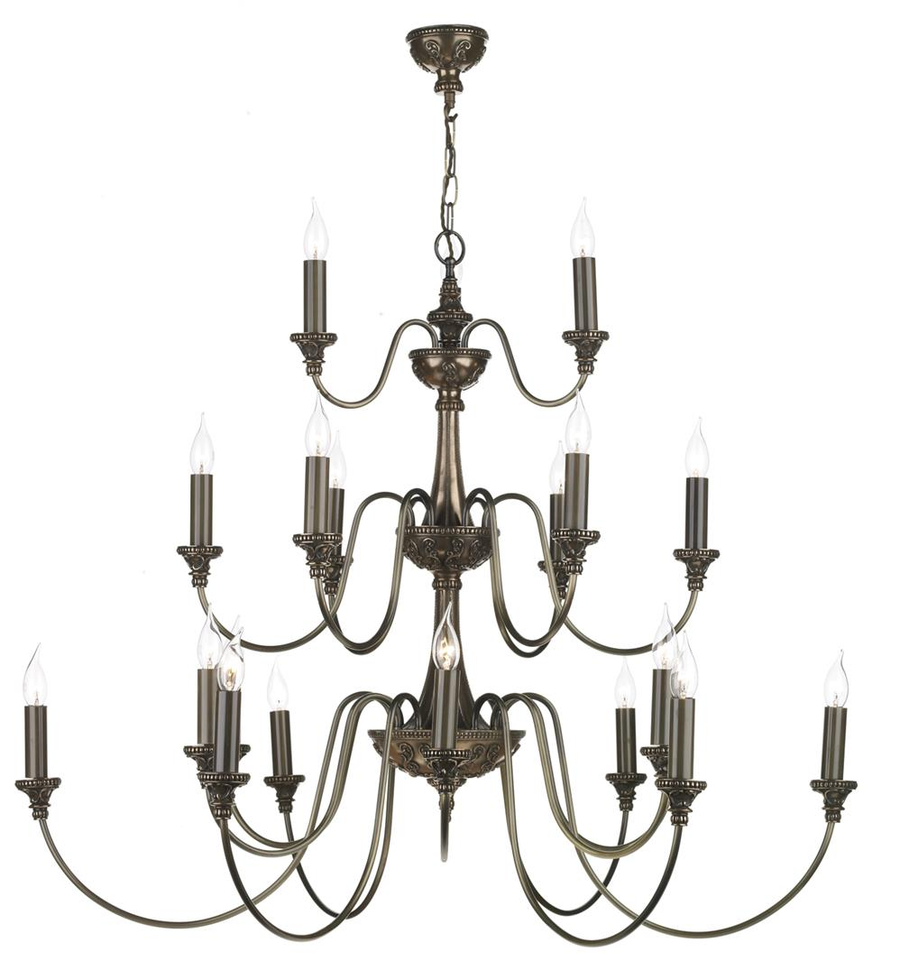 David Hunt Lighting BAI2163 Bailey 21 Light Pendant in Rich Bronze
