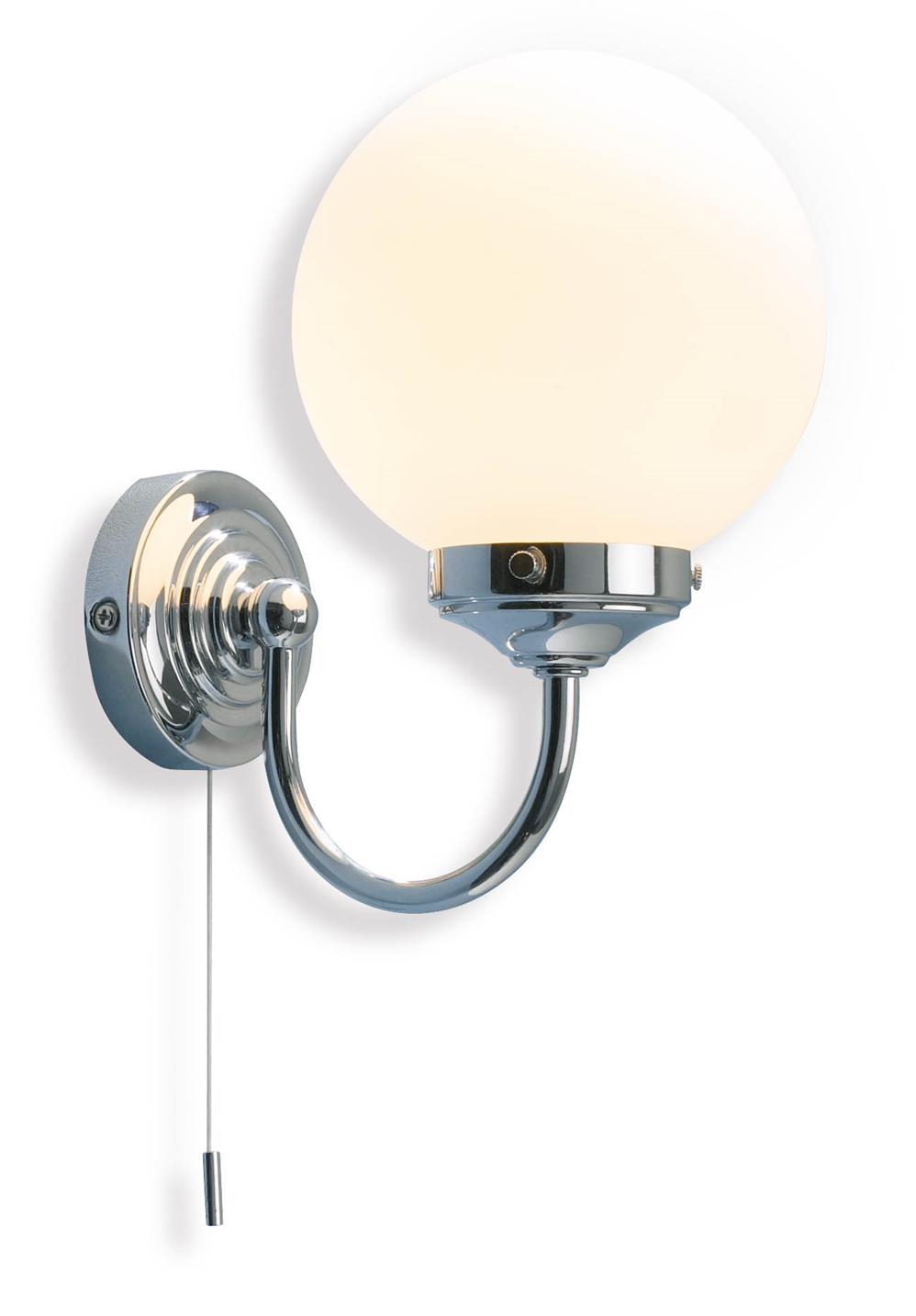 Bathroom Wall Lamp: BAR0750 Barclay Bathroom Wall Light In Chrome