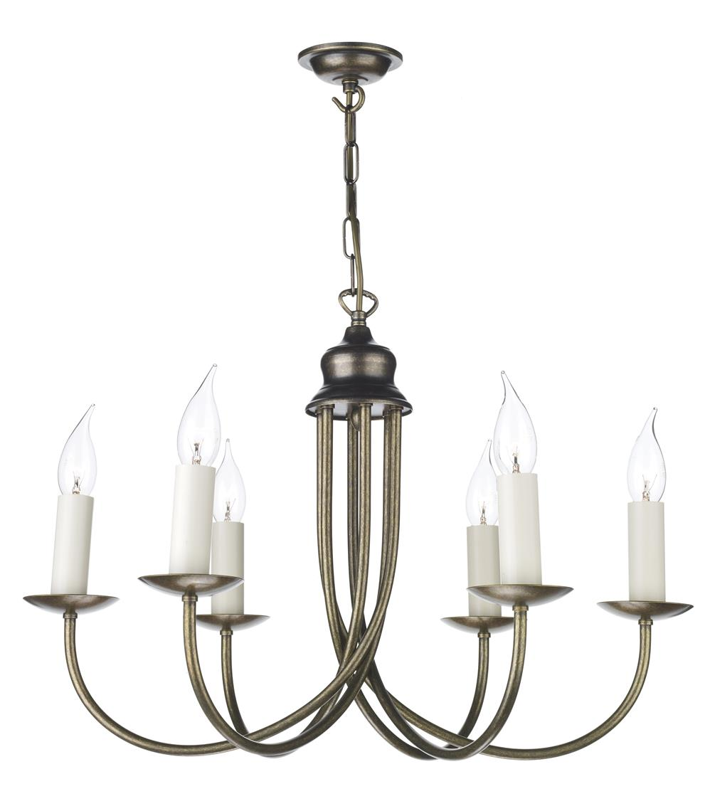 David Hunt Lighting BE68 Bermuda 6  light Chandelier in Aged Brass Fitting Only