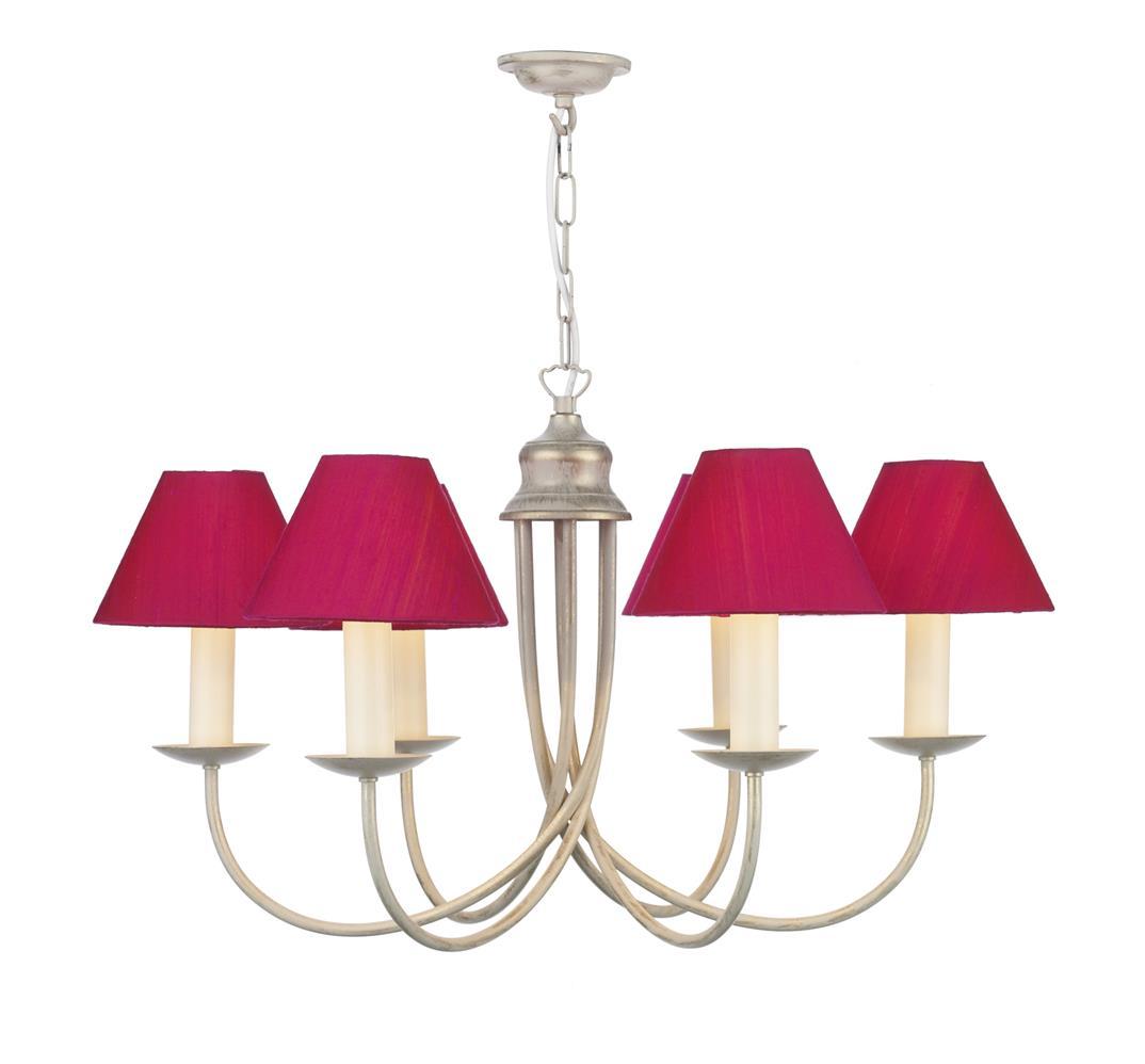 David Hunt Lighting BE69 Bermuda 6  light Chandelier in Cream &  Gold (Fitting Only)