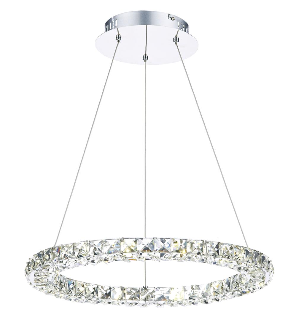 Dar CAM1750 Camille LED Pendant in Chrome