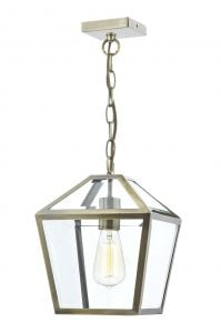 CHU0175 Churchill 1 Light Lantern Pendant Antique Brass