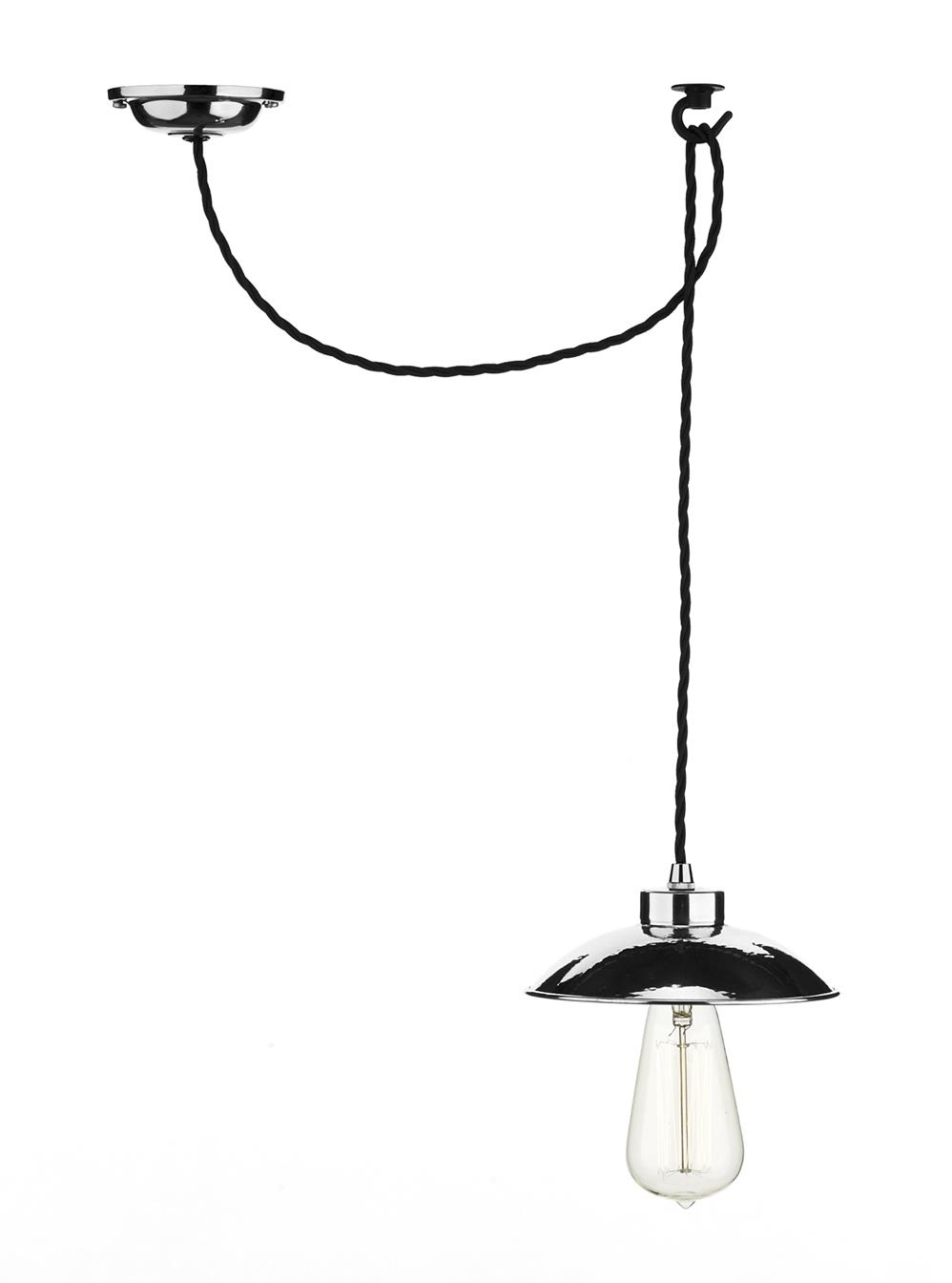 David Hunt Lighting DAL0150 Dallas 1 Light Pendant in Chrome