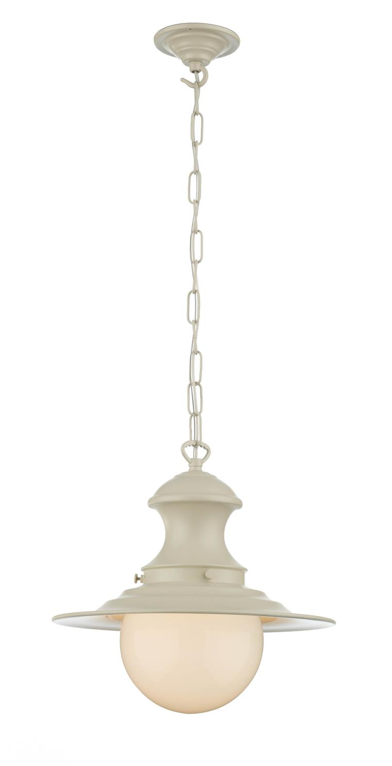 David Hunt Lighting EP0133 Station Small Single Pendant in Cream