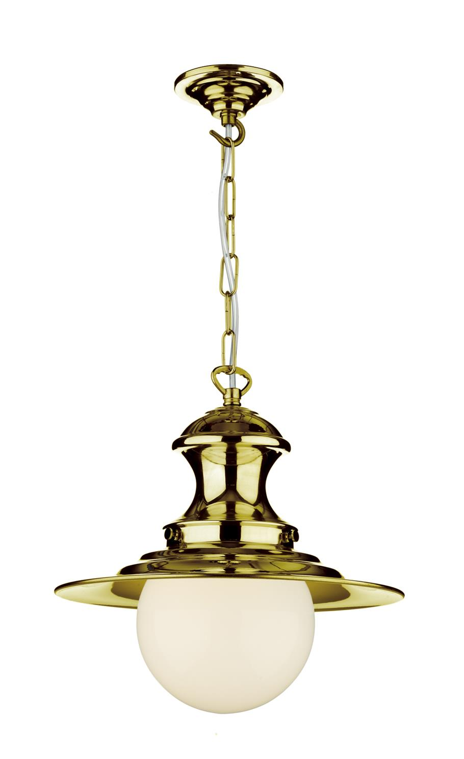 David Hunt Lighting EP0140 Station Small Single Pendant in Polished Brass