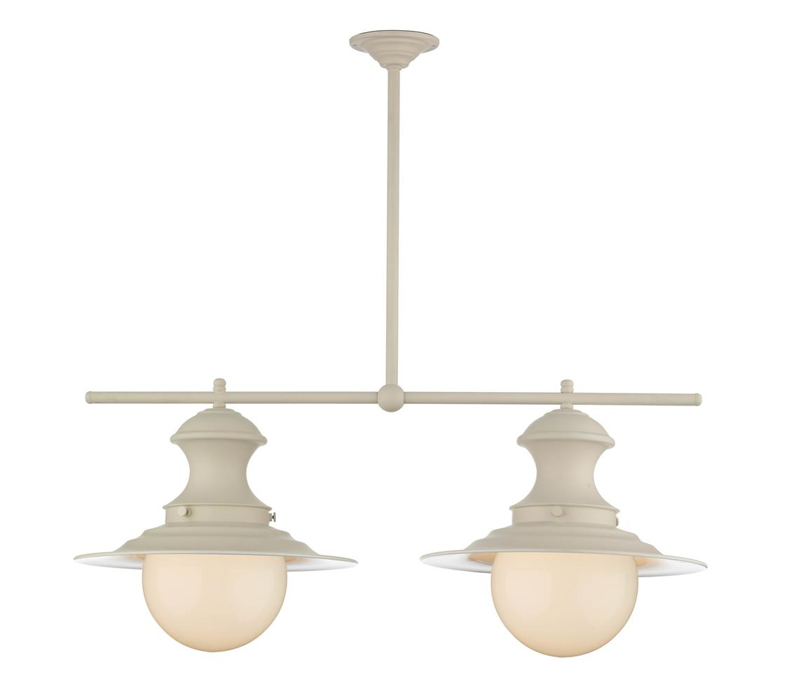 David Hunt Lighting EP0233 Station 2 Light Bar Pendant in Cream