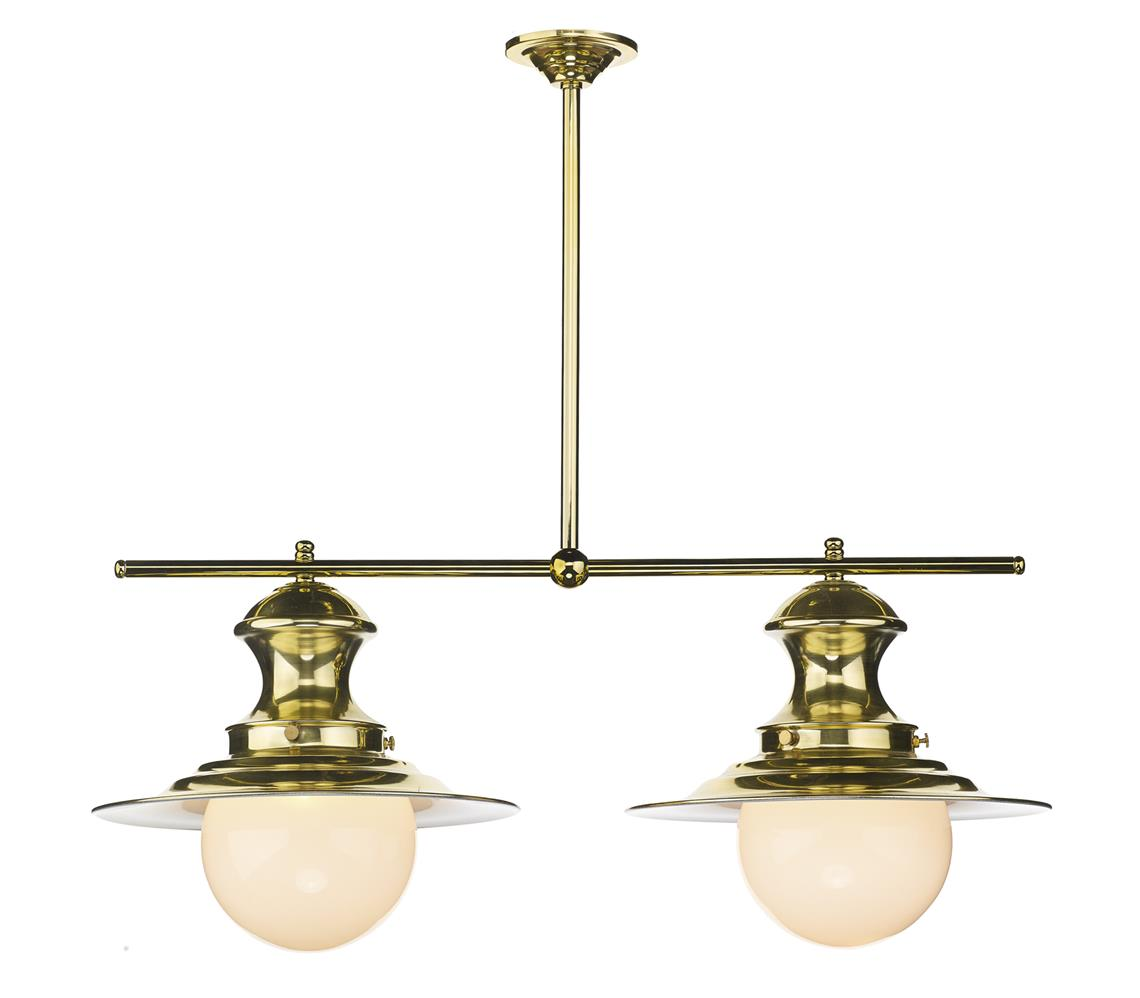 David Hunt Lighting EP0240 Station 2 Light Bar Pendant in Polished Brass
