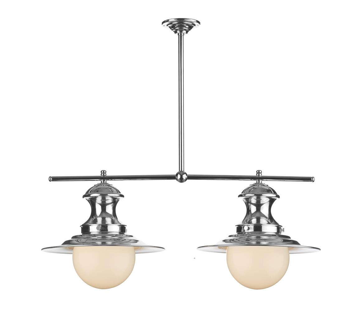 David Hunt Lighting EP0250 Station 2 Light Bar Pendant in Chrome