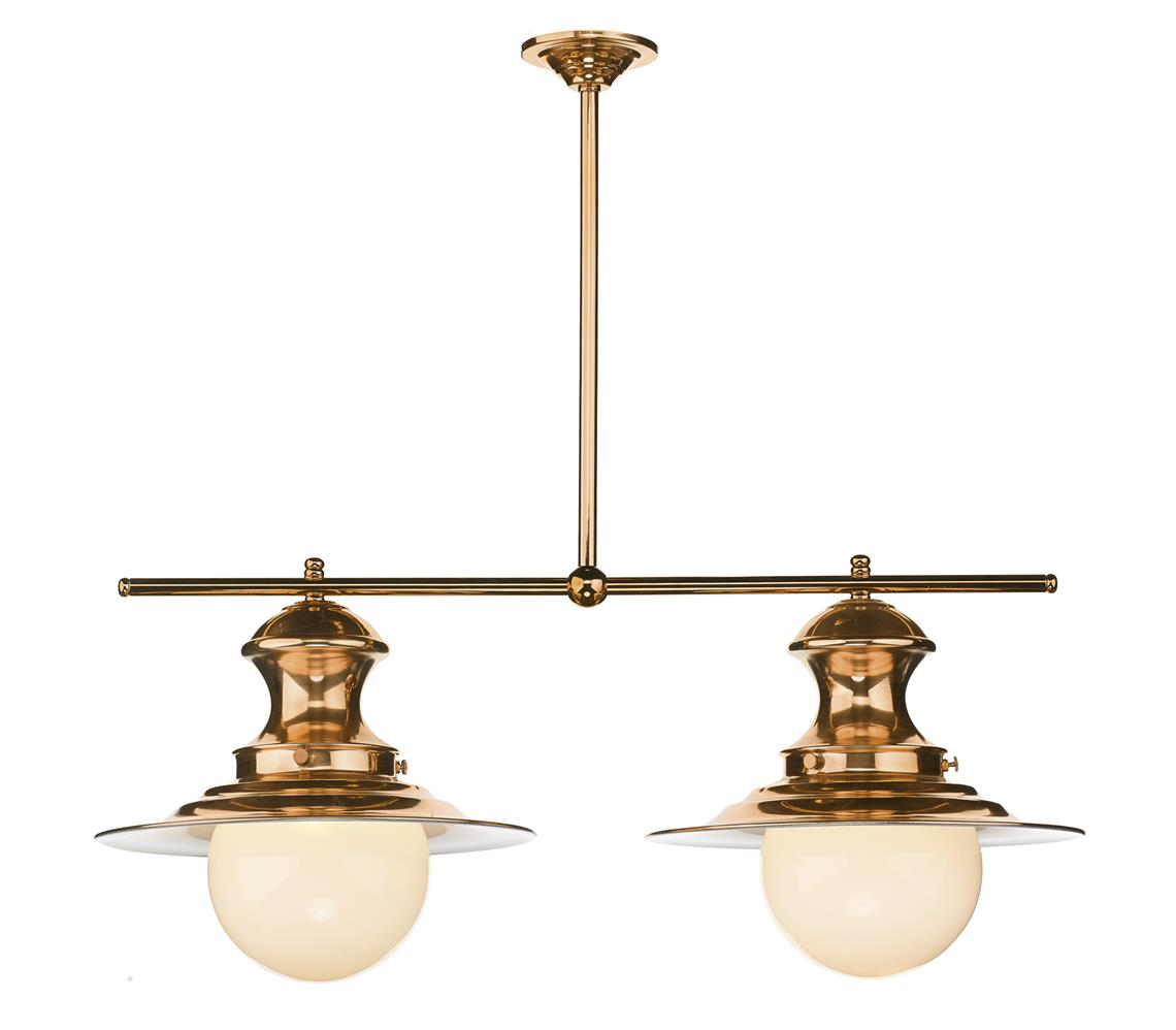 David Hunt Lighting EP0264 Station 2 Light Bar Pendant in Copper
