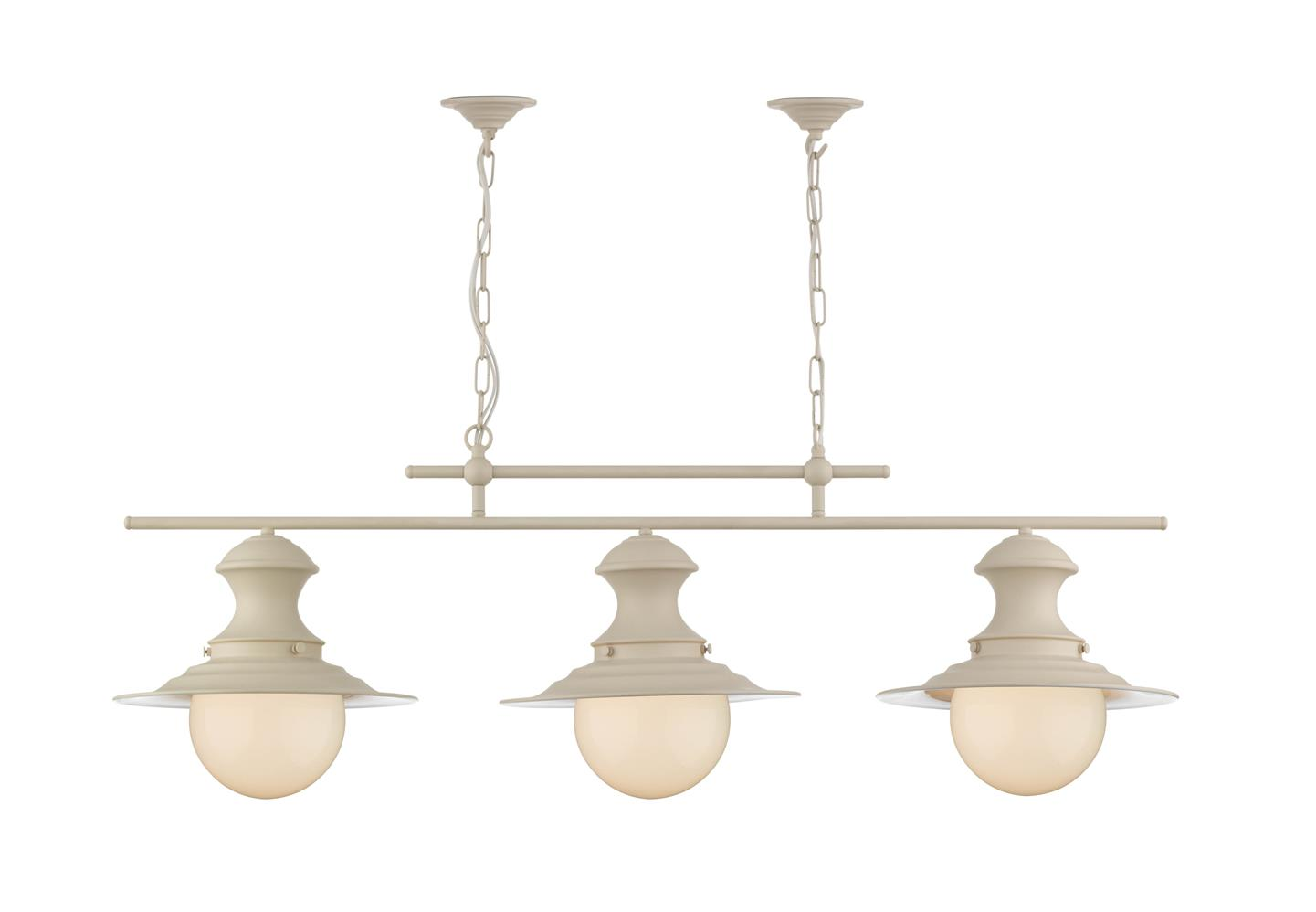 David Hunt Lighting EP0333 Station 3 Light Bar Pendant in Cream