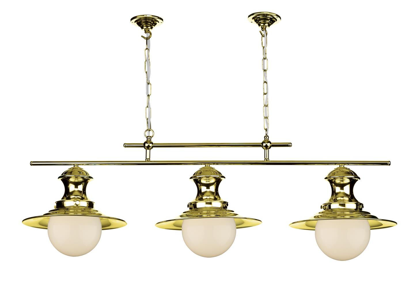 David Hunt Lighting EP0340 Station 3 Light Bar Pendant in Polished Brass