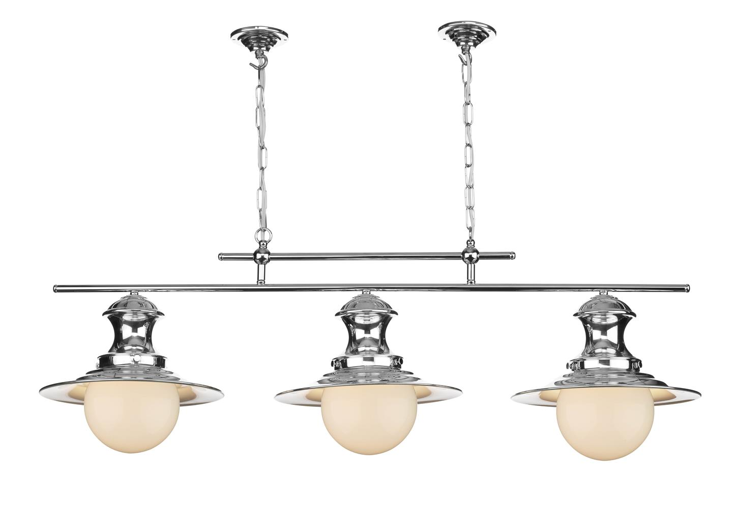 David Hunt Lighting EP0350 Station 3 Light Bar Pendant in Chrome