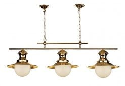 EP0364 Station 3 Light Bar Pendant in Copper