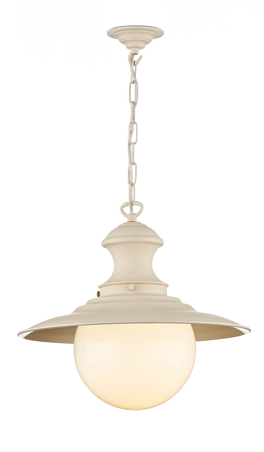 David Hunt Lighting EP33 Station Large Single Pendant in Cream