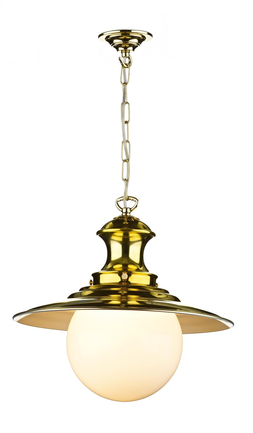 David Hunt Lighting EP40 Station Large Single Pendant in Polished Brass