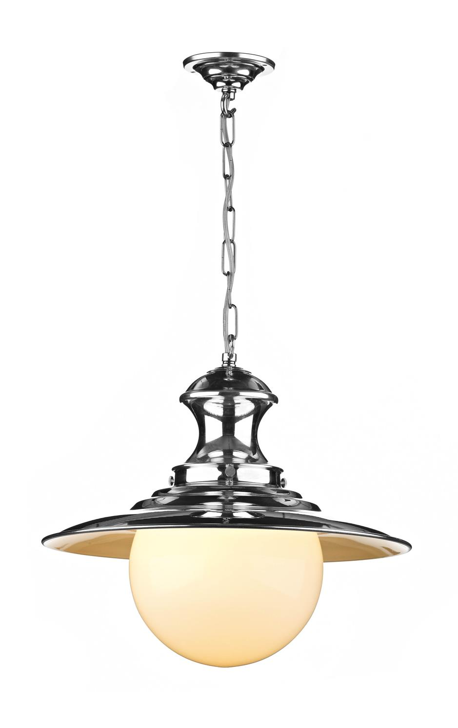 David Hunt Lighting EP50 Station Large Single Pendant in Chrome
