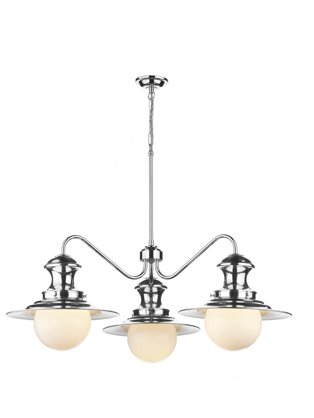 David Hunt Lighting EP5350 Station 3 Light Pendant in Chrome