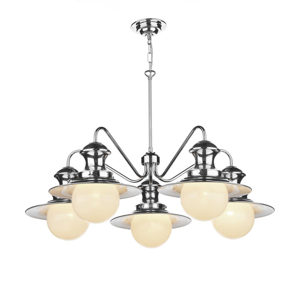 David Hunt Lighting EP5450 Station 5 Light Pendant in Cotswold Cream