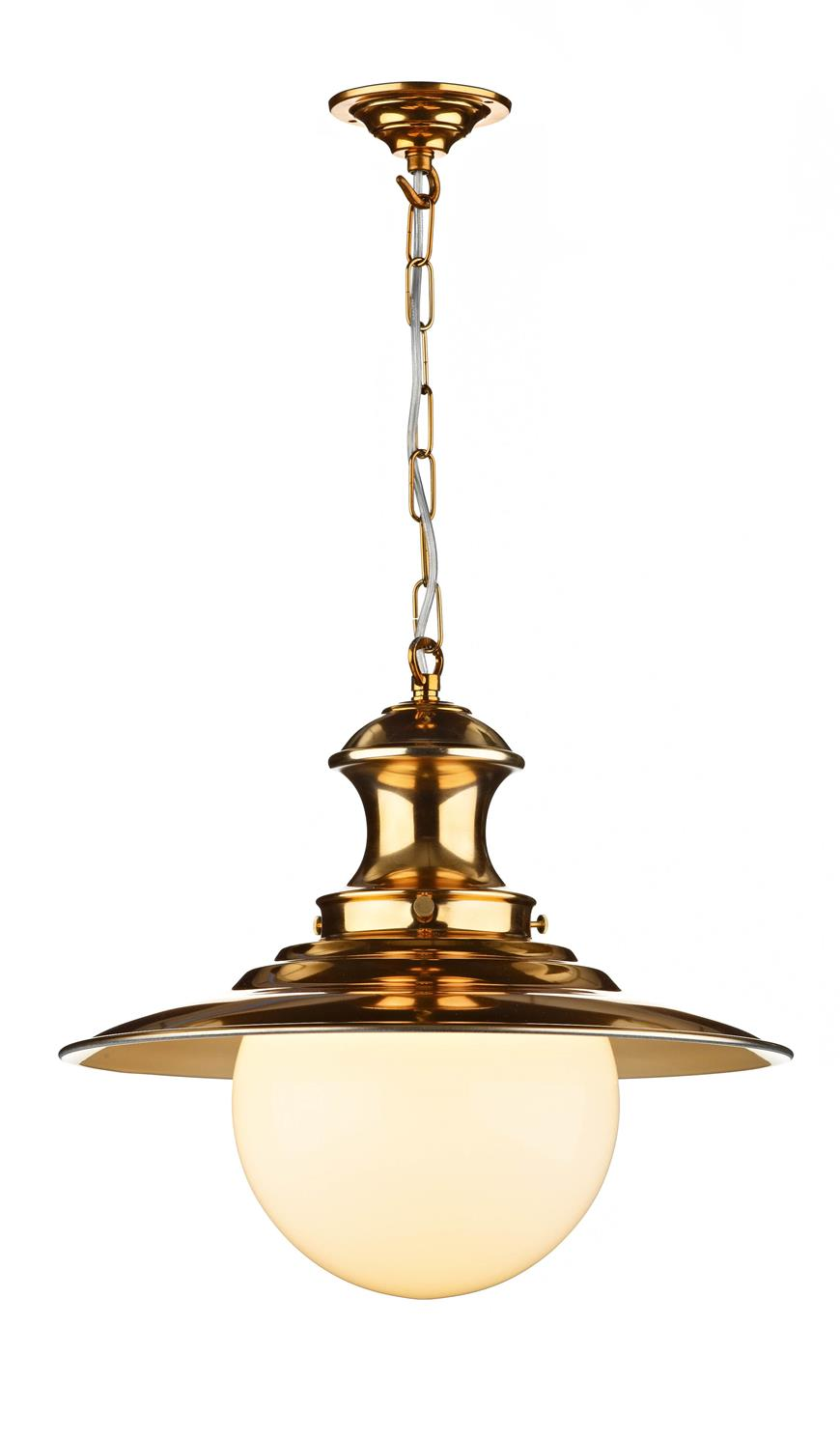 David Hunt Lighting EP64 Station Large Single Pendant in Copper