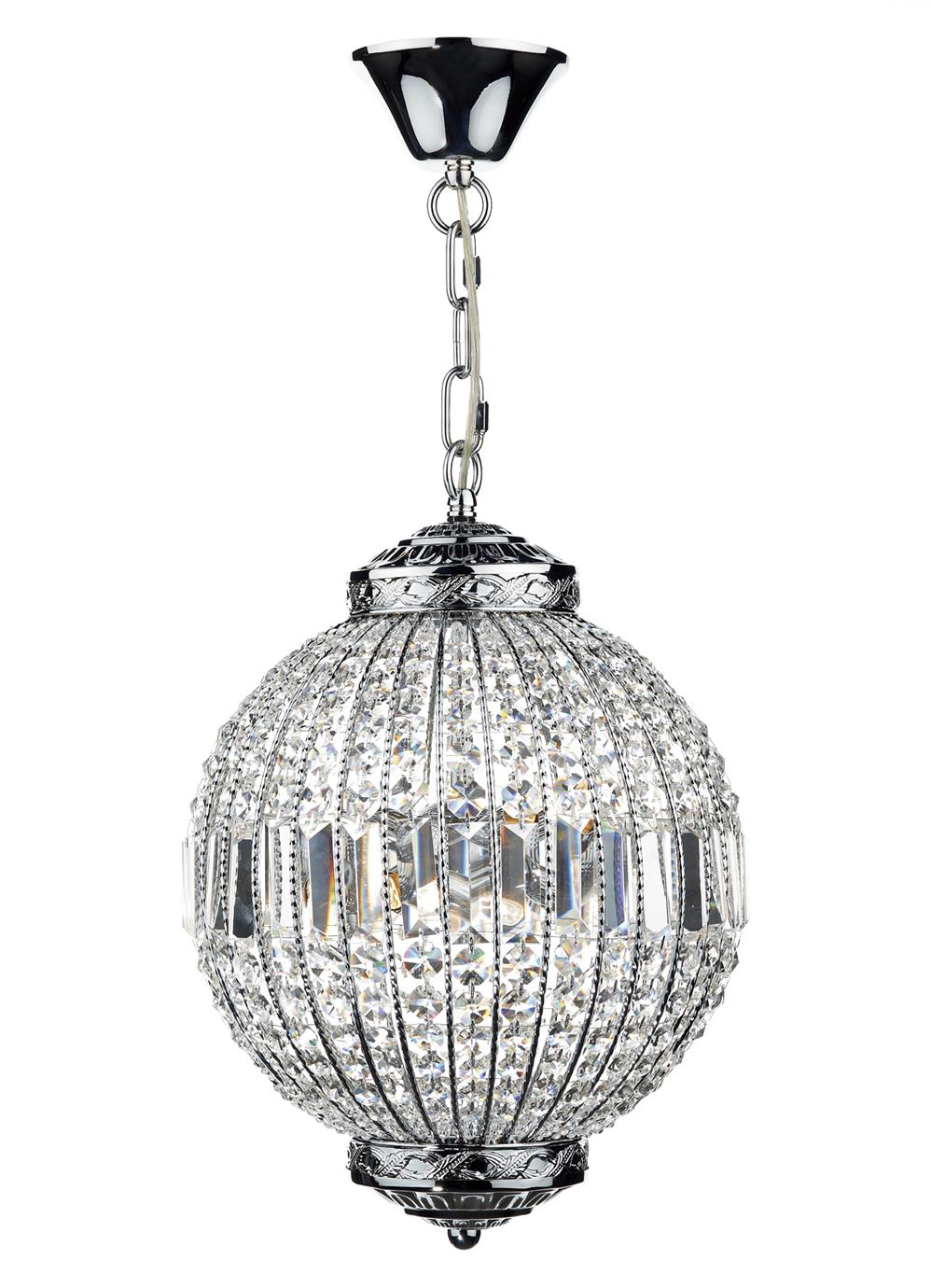 Dar EQU0650 Equator 6 Light Pendant Ball in Chrome