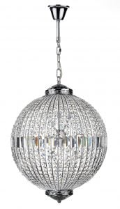 EQU1250 Equator 12 Light Pendant Ball in Chrome