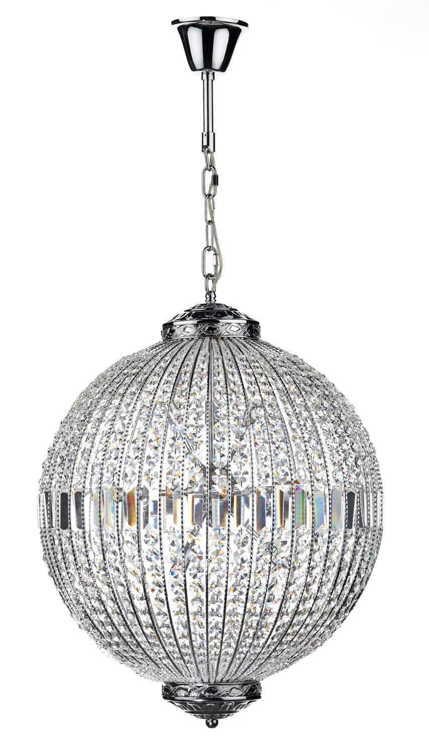 Dar EQU1250 Equator 12 Light Pendant Ball in Chrome