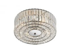 ERR5250 Errol 4 Light Flush Fitting in Polished Chrome & Crystal