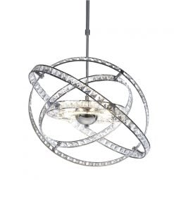 ETE2350 Eternity 10 Light Pendant in Chrome